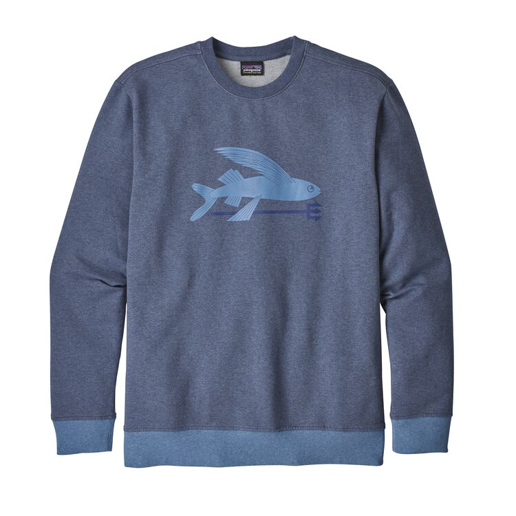 M'S FLYING FISH MW CREW SWEATSHIRT, Dolomite Blue (DLMB)