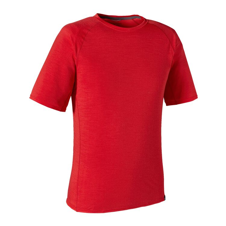 M'S MERINO LW T-SHIRT, French Red (FRR)