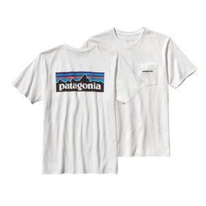 メンズ・P-6ロゴ・オーガニックコットン・ポケット・Tシャツ, White (WHI)
