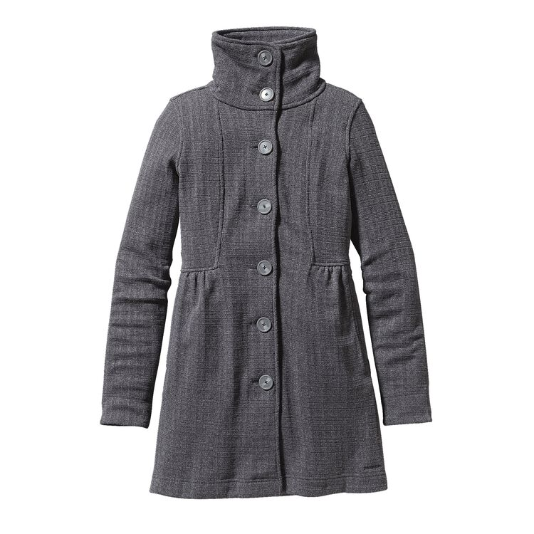 W'S BETTER SWEATER COAT, Tinsmith Grid: Feather Grey (TNFG)