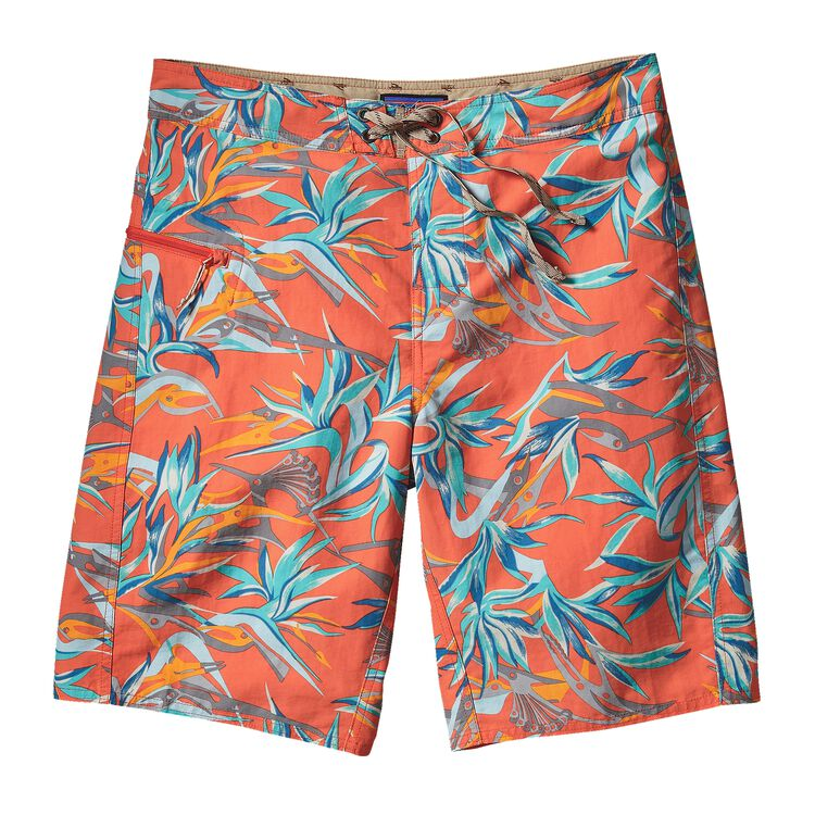 M'S PRINTED WAVEFARER BOARD SHORTS - 21, Piton Paradise: Cusco Orange (PTCO)
