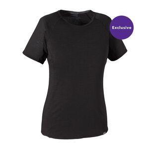 ウィメンズ・メリノ・ライトウェイト・Tシャツ, Black (BLK)