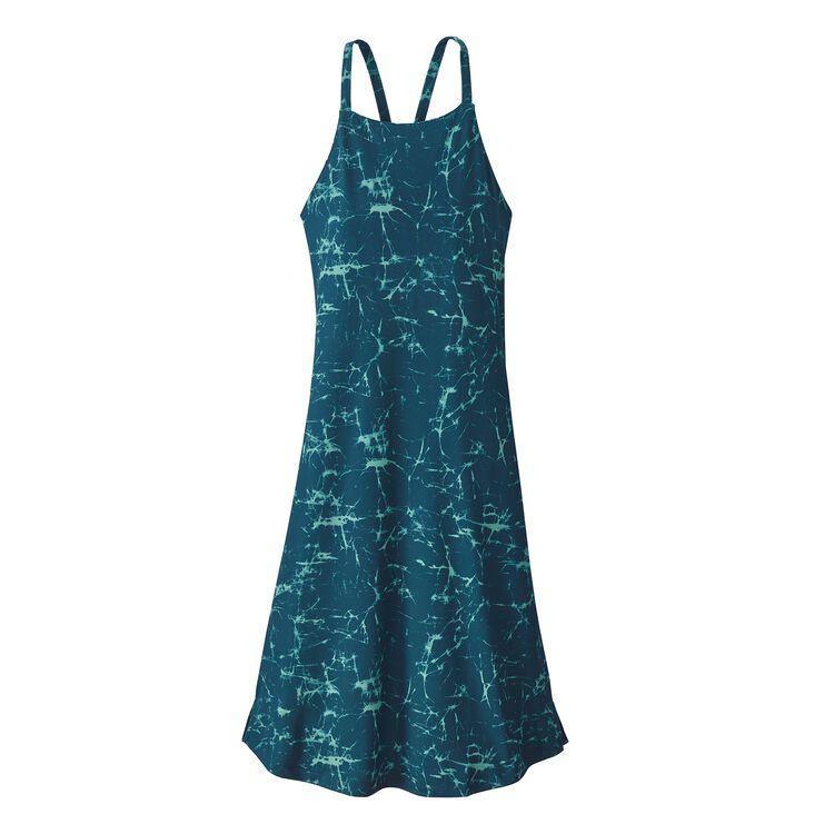 W'S SLIDING ROCK DRESS, Crackle: Tidal Teal (CRKT)