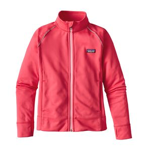 GIRLS' POLYCYCLE FLEECE JKT, Cerise (CIE)
