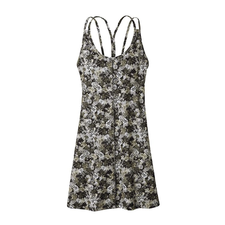W'S LATTICEBACK DRESS, Neo Tropics Petite: Feather Grey (NPFG)