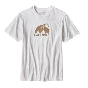 メンズ・イート・ローカル・アップストリーム・コットン・Tシャツ, White (WHI)
