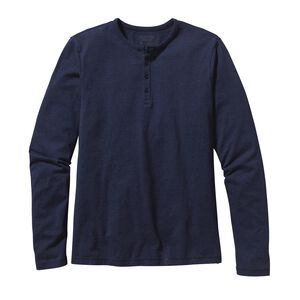 M'S L/S DAILY HENLEY, Navy Blue (NVYB)