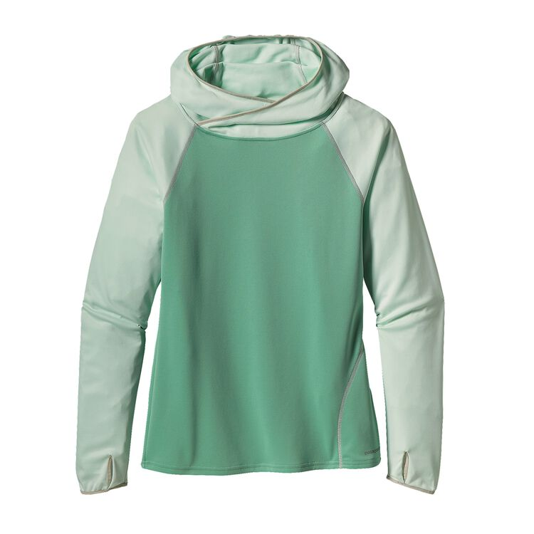 W'S SUNSHADE HOODY, Distilled Green (DTLG)