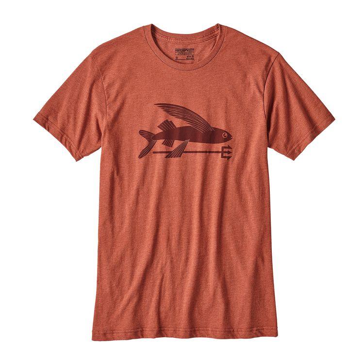 メンズ・フライング・フィッシュ・コットン/ポリ・Tシャツ, Roots Red (RTSR)