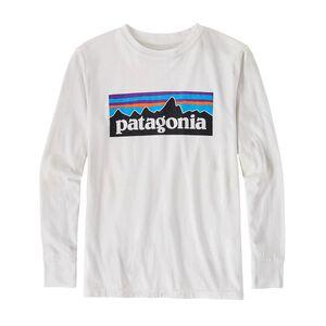 ボーイズ・ロングスリーブ・P-6 ロゴ・コットン/ポリ・Tシャツ, White (WHI)