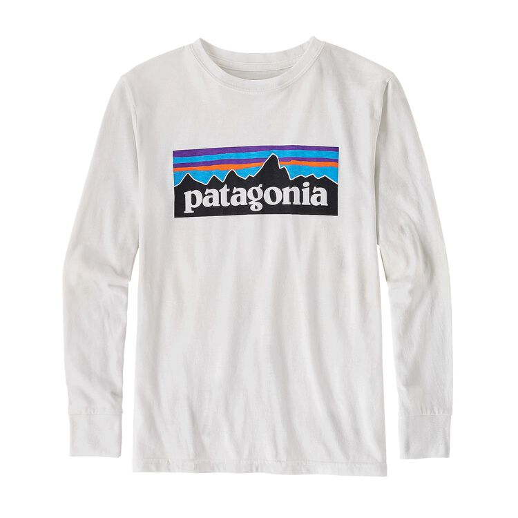 BOYS' L/S P-6 LOGO COTTON/POLY T-SHIRT, White (WHI)