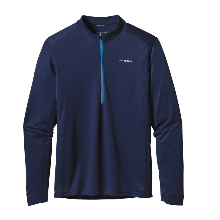 M'S L/S FORE RUNNER ZIP NECK, Navy Blue (NVYB)