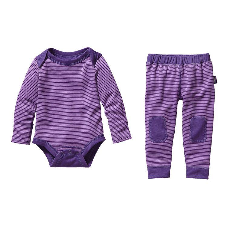 ベビー・キャプリーン・ミッドウェイト・セット, Pico Stripe: Light Acai/Concord Purple (PLAP)
