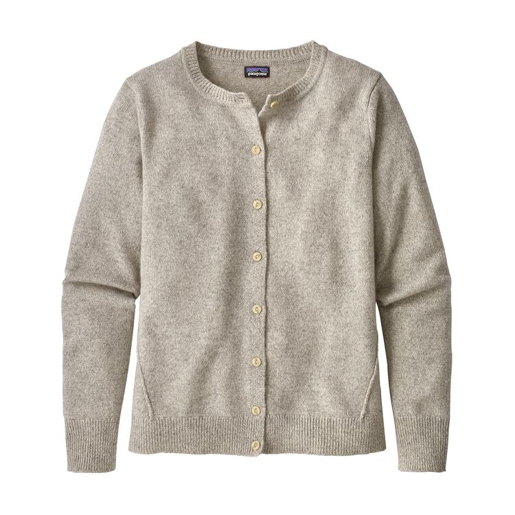 W'S RECYCLED CASHMERE CARDIGAN, Birch White (BCW)