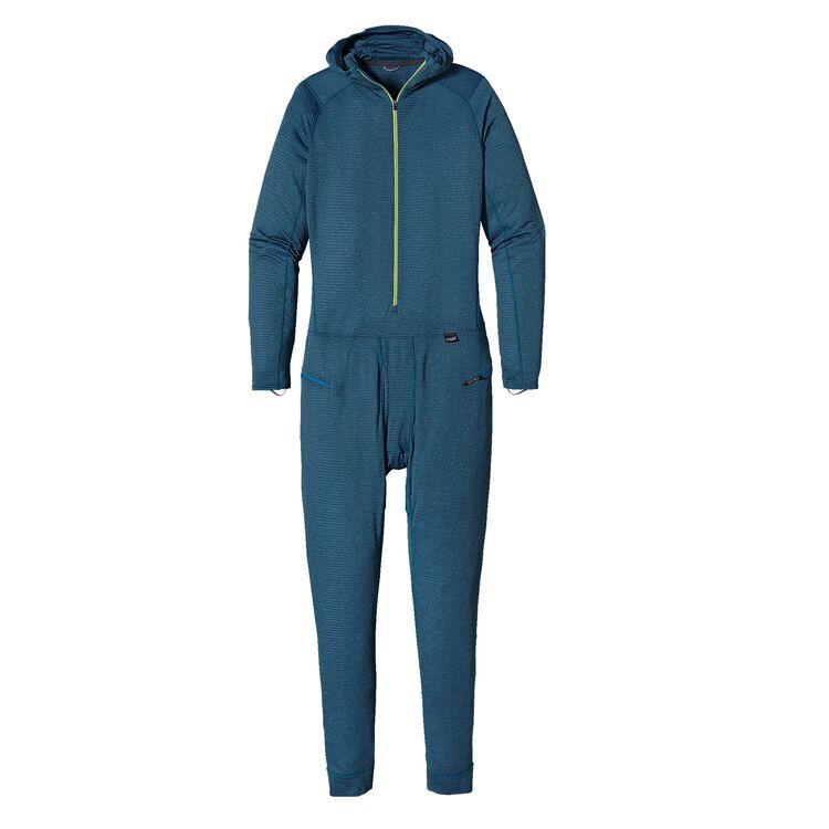 メンズ・キャプリーン・サーマルウェイト・ワンピース・スーツ, Smolder Blue - Electron Blue X-Dye (SEBX)