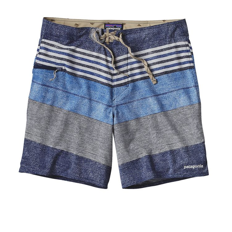 M'S PRINTED STRETCH PLANING BOARD SHORTS, Textured Fitz Stripe: Channel Blue (TXCB)