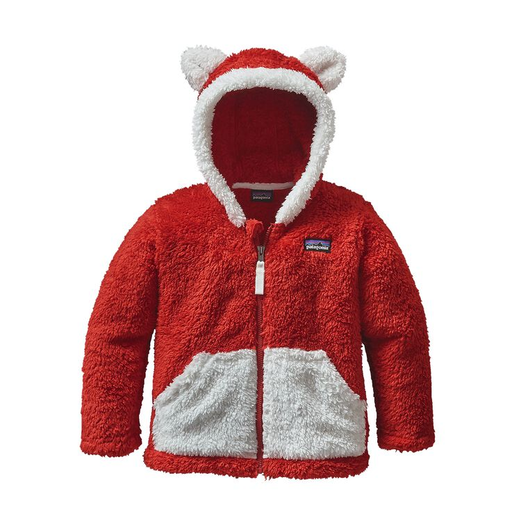 BABY FURRY FRIENDS HOODY, Ramble Red (RMBR)