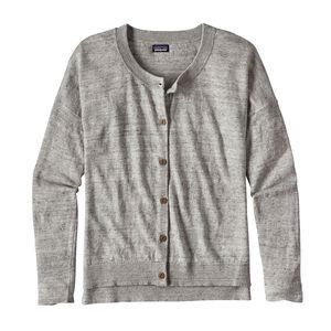 ウィメンズ・ライトウェイト・リネン・カーディガン, Tailored Grey (TGY)