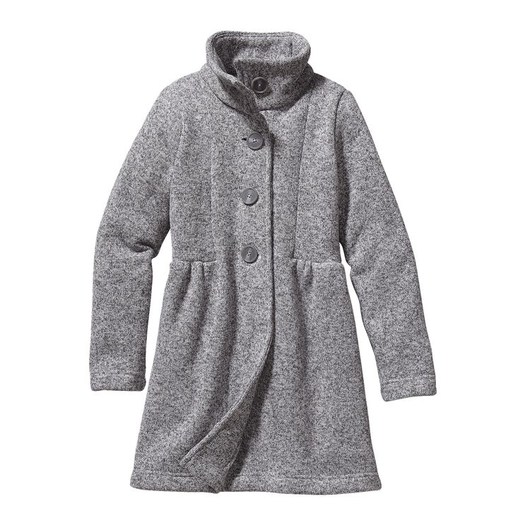 GIRLS' BETTER SWEATER COAT, Birch White (BCW)