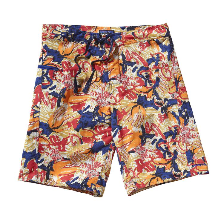 M'S WAVEFARER BOARD SHORTS - 21 IN., Dallas Tropical: Golden Amber (DTGA)