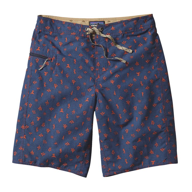 M'S PRINTED WAVEFARER BOARD SHORTS - 21, Scorpo: Navy Blue (SCRN)