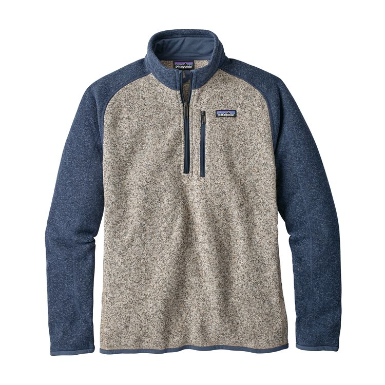M'S BETTER SWEATER 1/4 ZIP, Bleached Stone w/Dolomite Blue (BSDO)