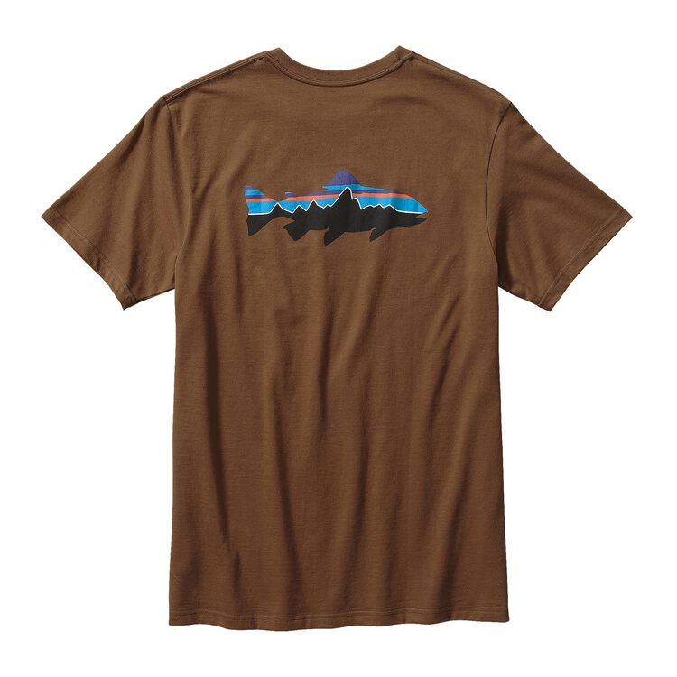 M'S FITZ ROY TROUT COTTON T-SHIRT, Timber Brown (TMBR)