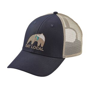 Eat Local Upstream LoPro Trucker Hat, Navy Blue (NVYB)