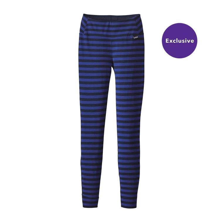W'S MERINO MW BOTTOMS, Pearson Stripe: Harvest Moon Blue/Navy Blue (PHVN)