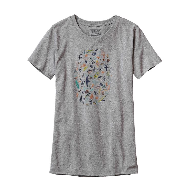 W'S SEA DOODLE RECYCLED COTTON/POLY RESP, Drifter Grey (DFTG)