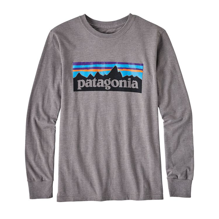 BOYS' L/S P-6 LOGO COTTON/POLY T-SHIRT, Narwhal Grey (NHG)