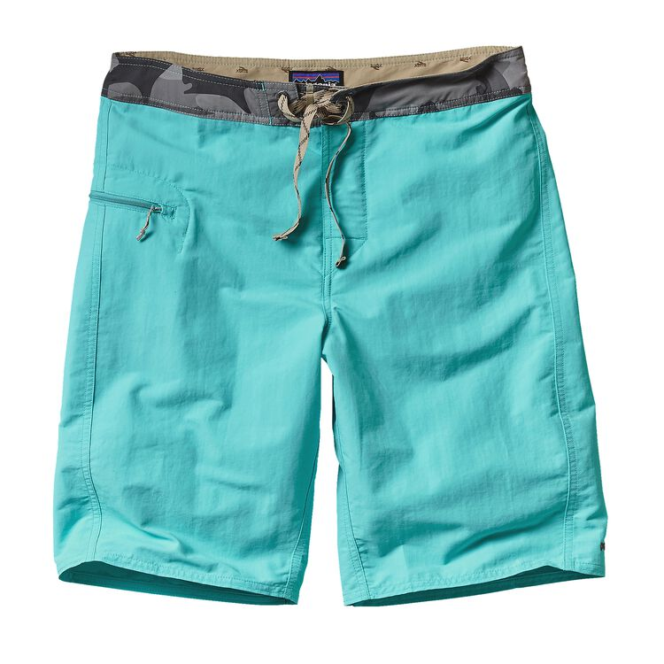 M'S SOLID WAVEFARER BOARD SHORTS - 21 IN, Howling Turquoise (HWLT)