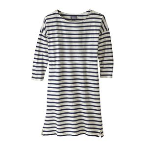 W's Seatoller Dress, Midnight Stripe: Classic Navy (MISC)