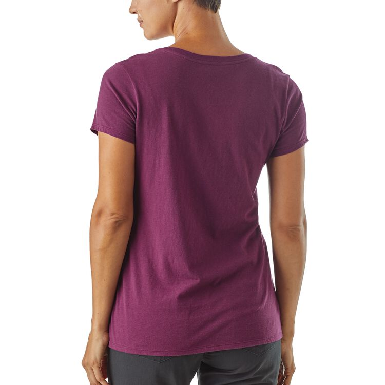 W's Raindrop Peak Organic V-Neck T-Shirt,
