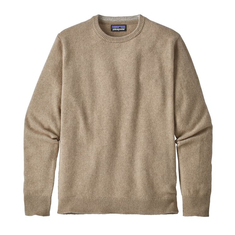 M'S RECYCLED CASHMERE CREWNECK SWEATER, Mojave Khaki (MJVK)