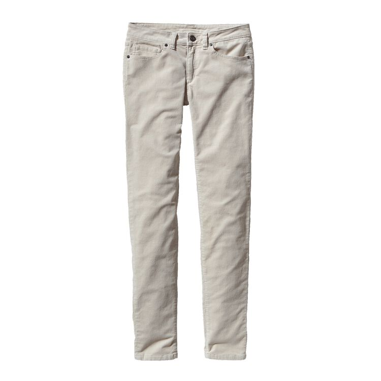 W'S FITTED CORDUROY PANTS, Bleached Stone (BLST)