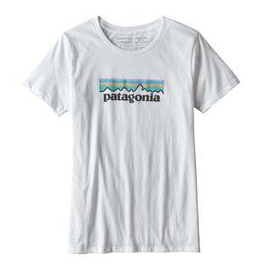 ウィメンズ・パステル・P-6 ロゴ・オーガニック・クルー・Tシャツ, White (WHI)