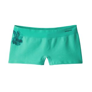 W's Active Mesh Boy Shorts, Dropdot Graphic: Galah Green (DTGG)