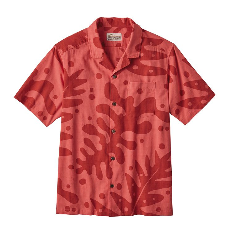 M'S PATALOHA SHIRT, Ferns: Fire Red (FRNR)