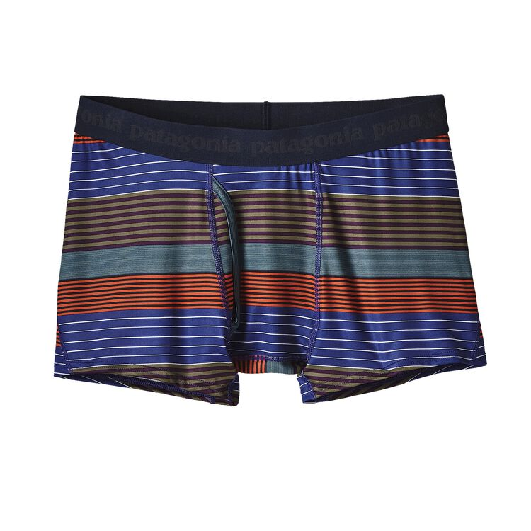 M'S CAP DAILY BOXER BRIEFS, Stripe of Stripes Small: Cusco Orange (SSSO)