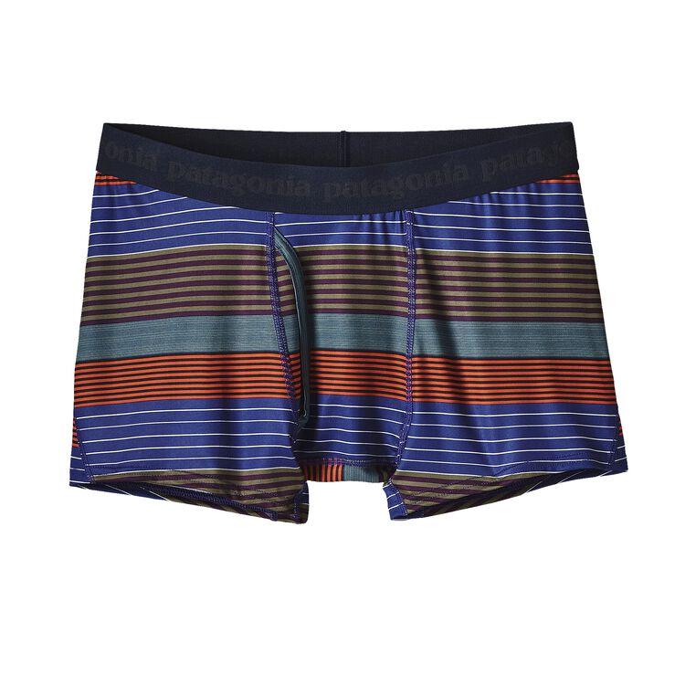 M'S CAP DAILY BOXER BRIEFS, Stripe of Stripes Small: Cusco Orange (SSSO)