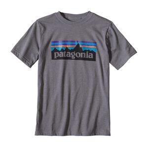 ボーイズ・P-6 ロゴ・コットン/ポリ・Tシャツ, Narwhal Grey (NHG)
