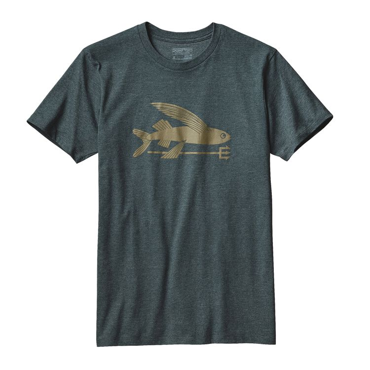 M'S FLYING FISH COTTON/POLY T-SHIRT, Carbon (CAN)