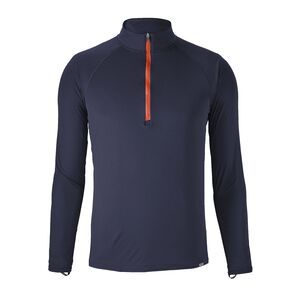 M's Capilene® Lightweight Zip-Neck, Navy Blue w/Paintbrush Red (NPTR)