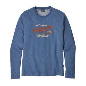 メンズ・スプリッター・スクリプト・ライトウェイト・クルー・スウェットシャツ, Superior Blue (SPRB)