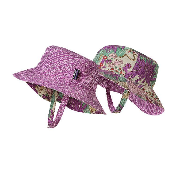 BABY SUN BUCKET HAT, Arina Stripe: Mock Purple (AMKP)