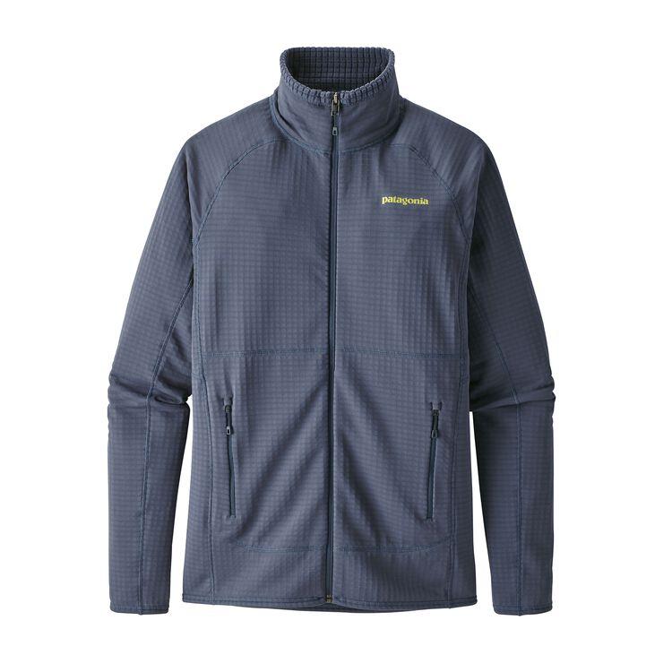 メンズ・R1フルジップ・ジャケット, Dolomite Blue (DLMB)