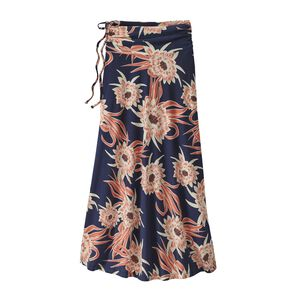 W's Kamala Maxi Skirt, Cereus Flower: Classic Navy (CEUD)