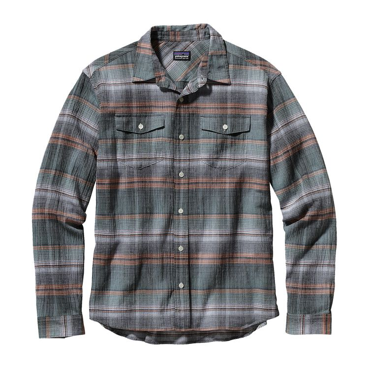 M'S L/S A/C STEERSMAN SHIRT, Plaskett: Forge Grey (PKFG)