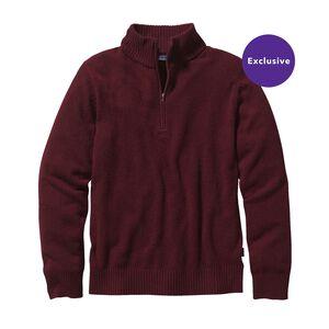 メンズ・マーロウウール・1/4ジップ・セーター, Oxblood Red (OXRD)